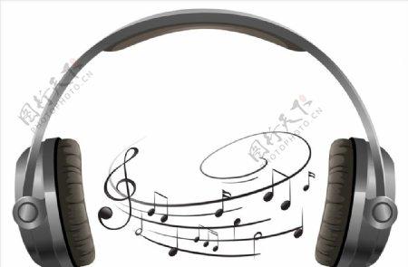 音符与耳机图片