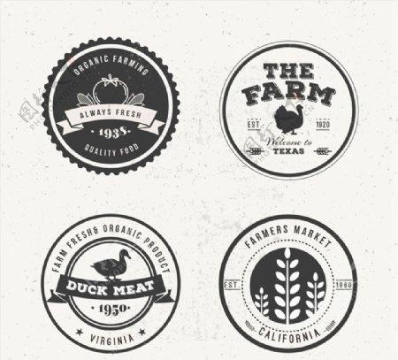 农场产品标签图片