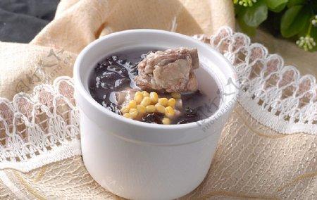 营养汤紫菜排骨盅图片