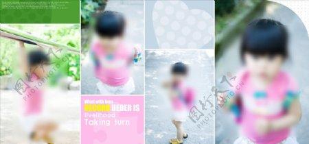 快乐的微笑幼儿少儿纪念相册模板图片