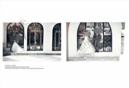 街头爱情时尚浪漫婚纱相册模板图片