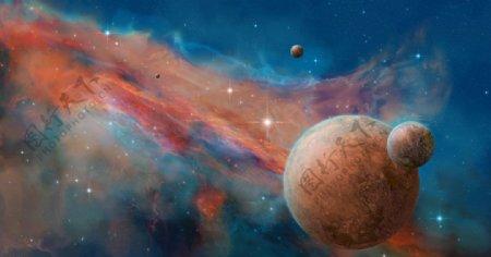 宇宙星空星光彩色背景图片