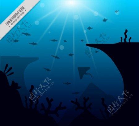 深海鱼类风景图片