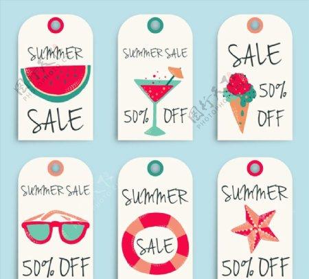 夏季销售吊牌图片