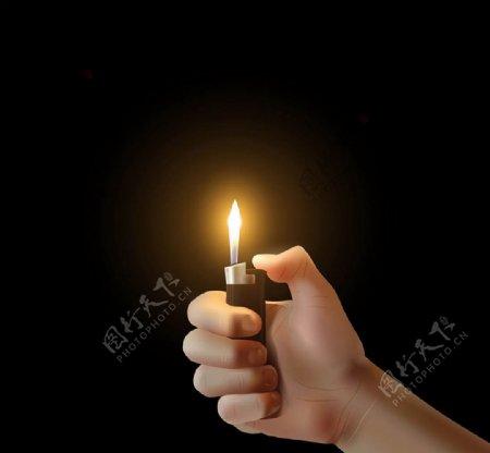 打火机与火苗图片