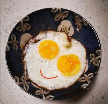 微笑的煎蛋图片