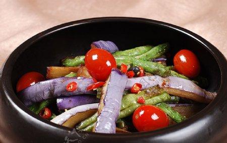 长豆角烧茄子图片