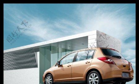 室外修片合图尼桑骐达两箱轿车图片