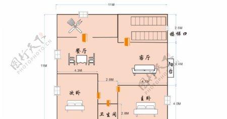 房子施工平面图图片