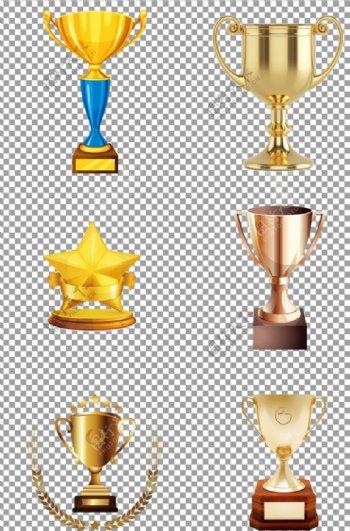 金色创意奖杯图片