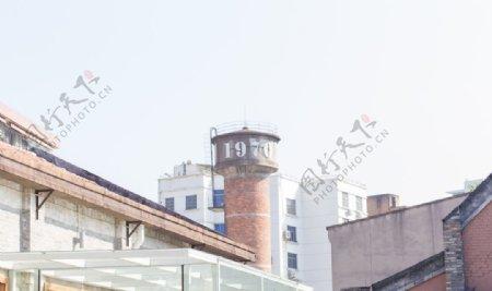旅行水塔背景图片