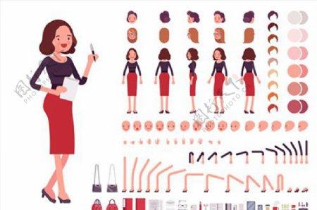 职业女性矢量图片
