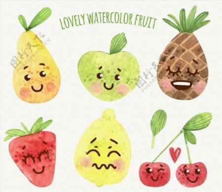 彩绘表情水果图片