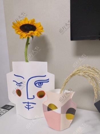 向日葵创意花瓶客厅摆件图片