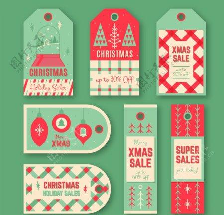 圣诞销售标签图片