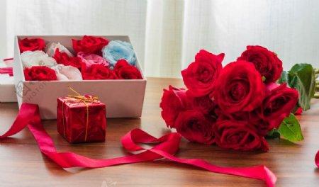 玫瑰花束玫瑰花礼盒图片