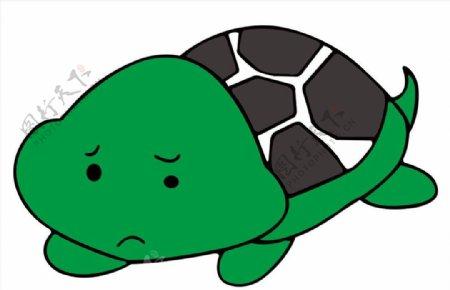 小乌龟卡通小乌龟矢量图图片