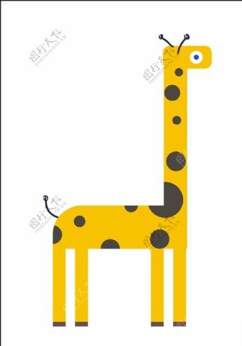 矢量长颈鹿图片