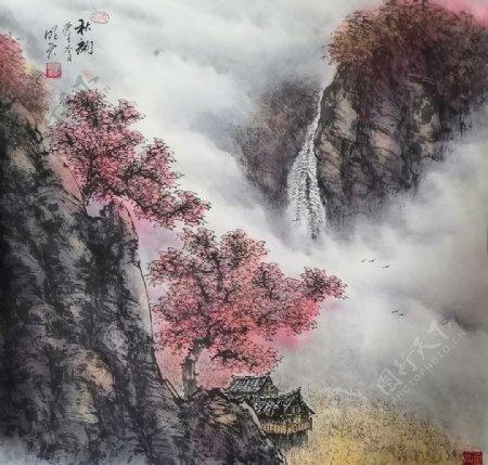 秋韵枫叶图片