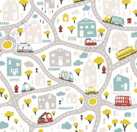 城市卡通图片