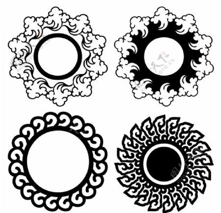 艺术传统圆形图案图片