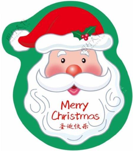 圣诞老人贴纸圣诞节图片
