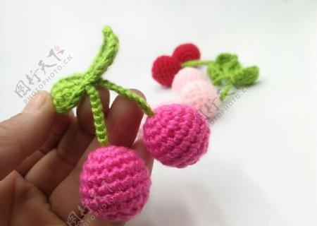 手工编织樱桃图片