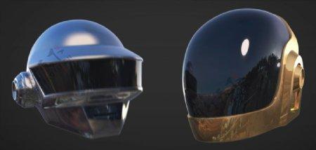 C4D模型动画朋克头盔图片