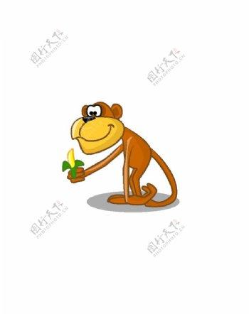 手绘猴子图片