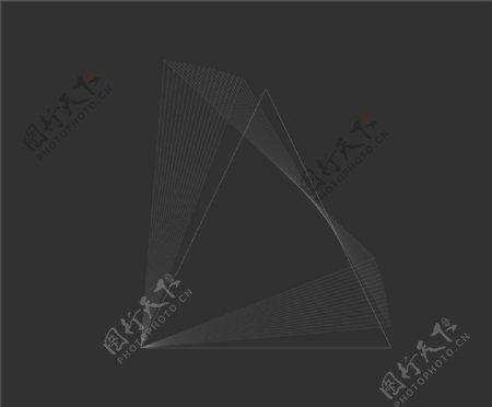 黑色背景科技感线条设计图片