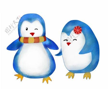 卡通企鹅插画图片
