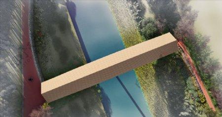 景观桥效果图图片
