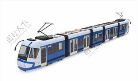 C4D模型电车动车高铁火车图片