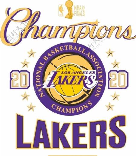 2020湖人夺冠衣服logo图片