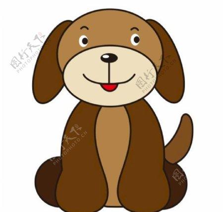 矢量卡通小狗图片
