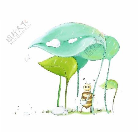卡通昆虫卡通蜜蜂图片