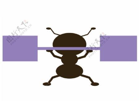 卡通Q版蚂蚁图片