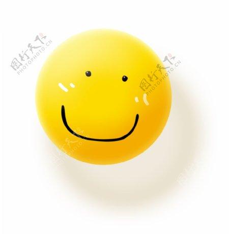 小黄球微笑图片