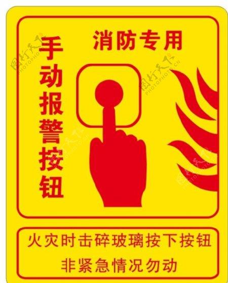 矢量消防报警按钮图片