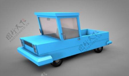 C4D模型卡通小汽车图片