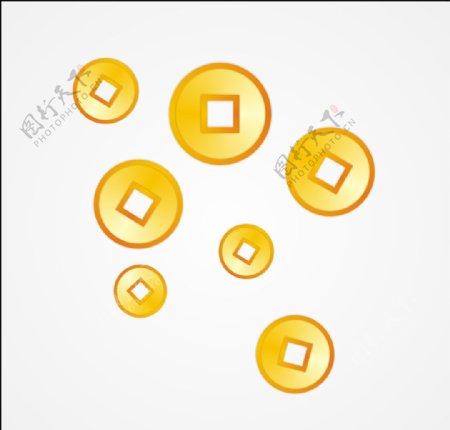 铜钱金币图片