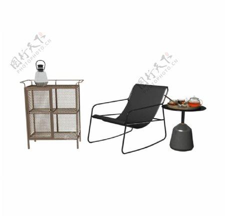 柜子躺椅3d模型图片