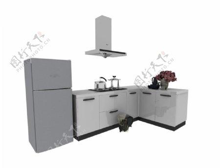 厨房角落3d模型图片
