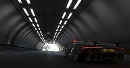 黑色汽车跑车交通工具背景图片