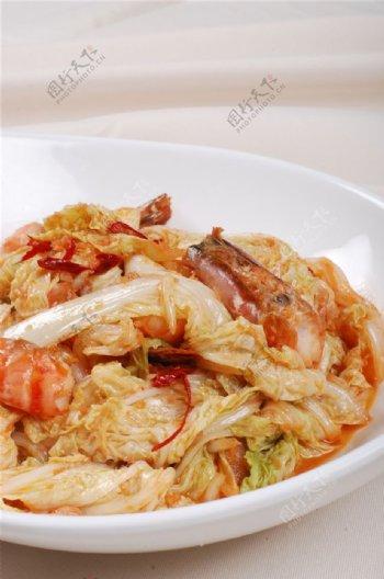 鲜虾辣白菜图片