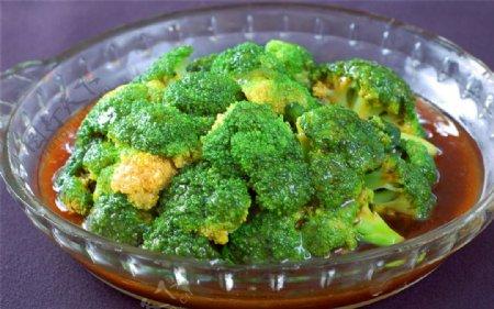 菜蠔油西兰花图片