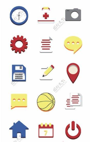 扁平化商务名片图标图片