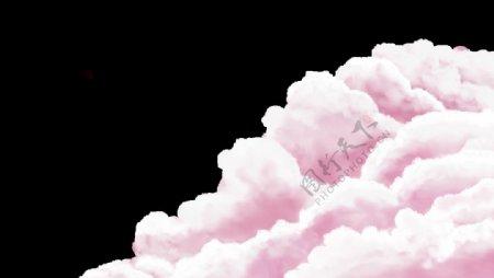 粉色云层图片