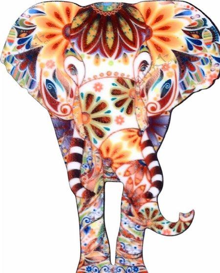 彩色大象图片