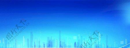 蓝色展板背景图科技感图片